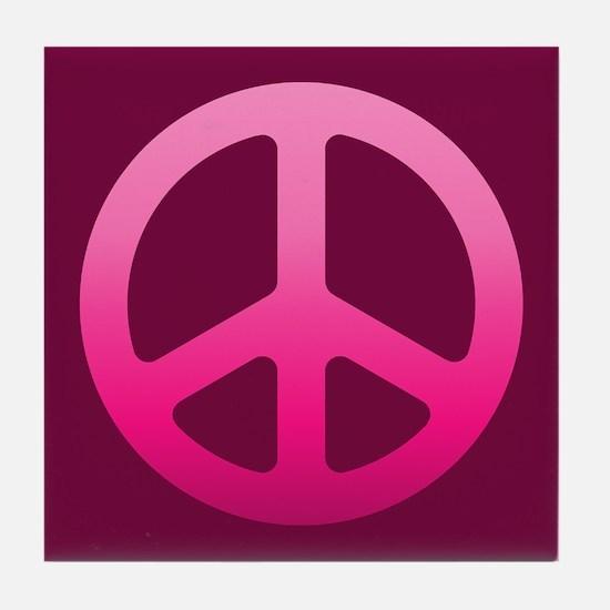 pink peace Tile Coaster