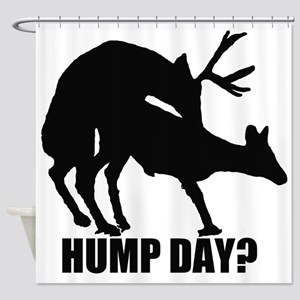 Mule deer hump day Shower Curtain