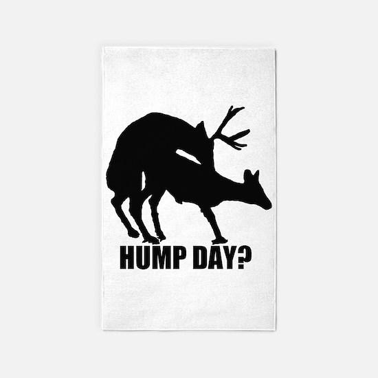 Mule deer hump day 3'x5' Area Rug