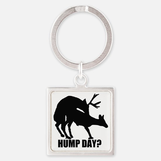 Mule deer hump day Square Keychain