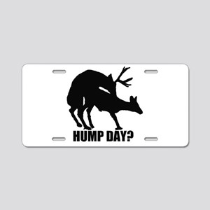 Mule deer hump day Aluminum License Plate