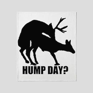 Mule deer hump day Throw Blanket