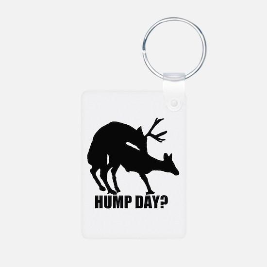 Mule deer hump day Aluminum Photo Keychain