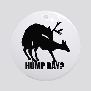 Mule deer hump day Ornament (Round)