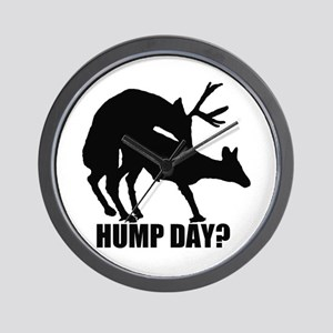 Mule deer hump day Wall Clock