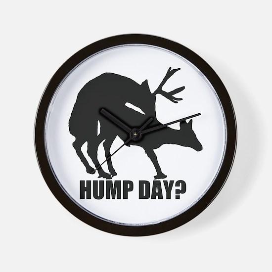 Mule deer hump day Wall Clock