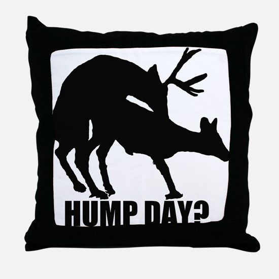 Mule deer hump day Throw Pillow