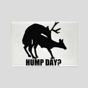 Mule deer hump day Rectangle Magnet