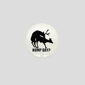 Mule deer hump day Mini Button