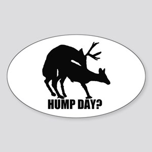 Mule deer hump day Sticker (Oval)