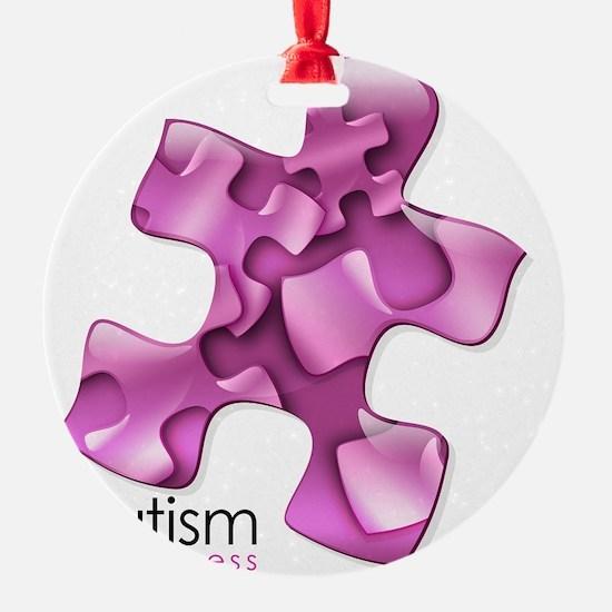 2-puzzle-v2-pink Ornament