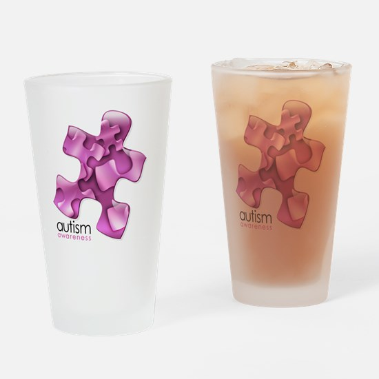 2-puzzle-v2-pink Drinking Glass