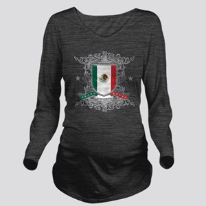 mexicoshield Long Sleeve Maternity T-Shirt