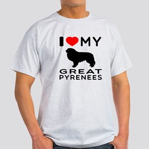 I Love My Great Pyrenees Light T-Shirt