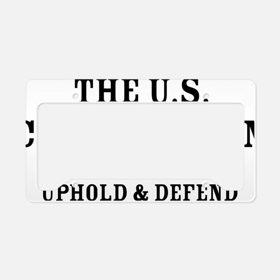 UpholdDefend License Plate Holder