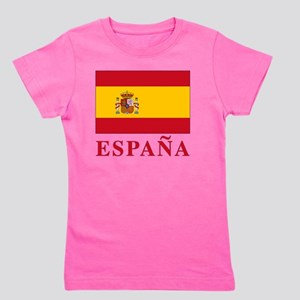 2-Flag_of_Spain3 Girl's Tee