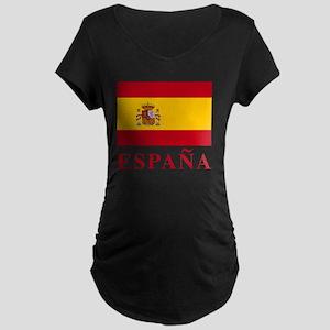 2-Flag_of_Spain3 Maternity Dark T-Shirt