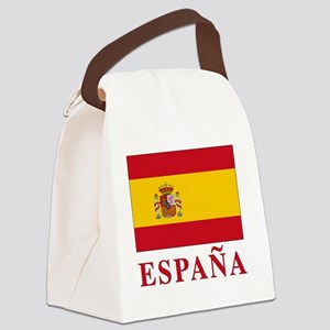 2-Flag_of_Spain3 Canvas Lunch Bag