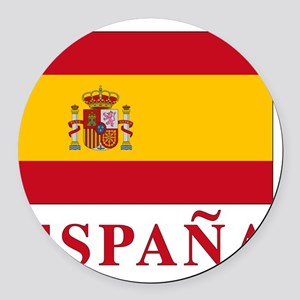 2-Flag_of_Spain3 Round Car Magnet