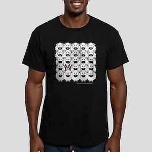 Corgi in the Sheep Men's Fitted T-Shirt (dark)