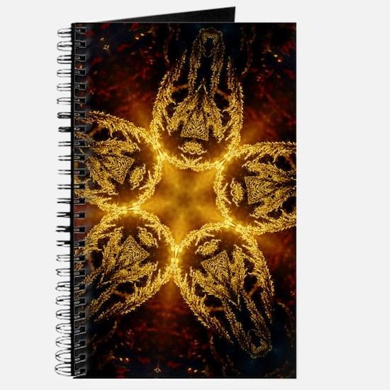 Golden Grass Mandala Journal