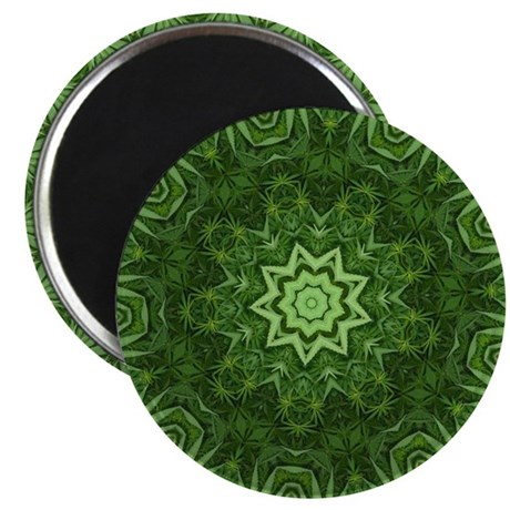 Marijuana Leaf Kaleidoscope Magnet