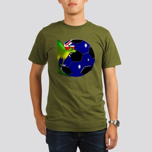 kangaroosoccer Organic Men's T-Shirt (dark)