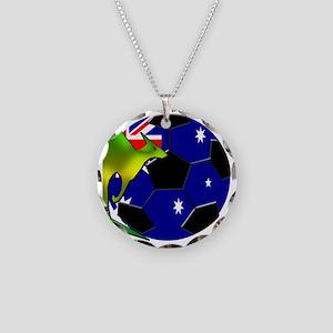 3-kangaroosoccer Necklace Circle Charm
