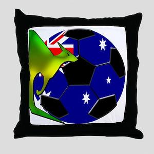 3-kangaroosoccer Throw Pillow