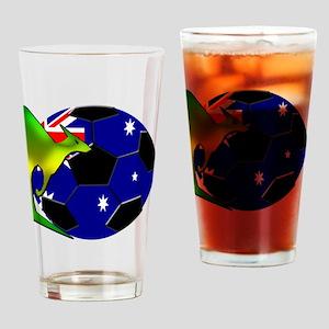 3-kangaroosoccer Drinking Glass