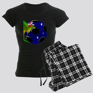 2-kangaroosoccer Women's Dark Pajamas