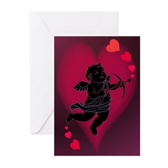 Valentine's Day Greeting Cards Cupid Love 10 Pk
