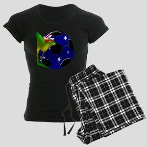 5-kangaroosoccer Women's Dark Pajamas