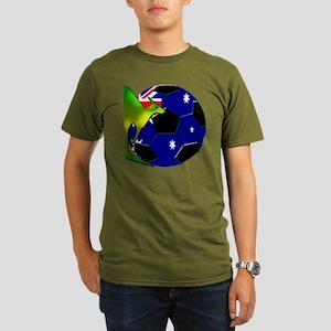 5-kangaroosoccer Organic Men's T-Shirt (dark)