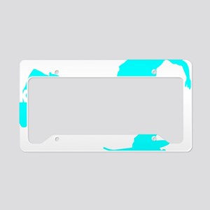 keeponpushing_cyan_dark License Plate Holder
