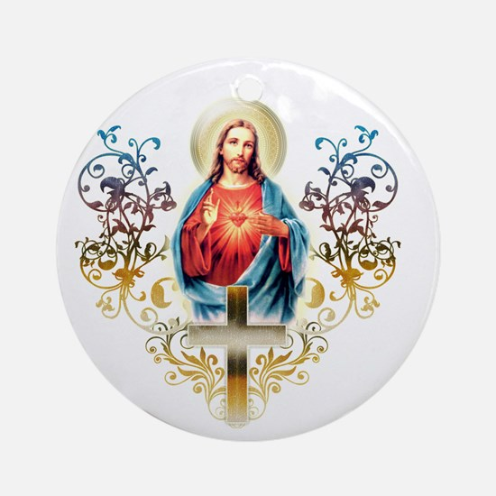 Sacred Heart of Jesus Round Ornament