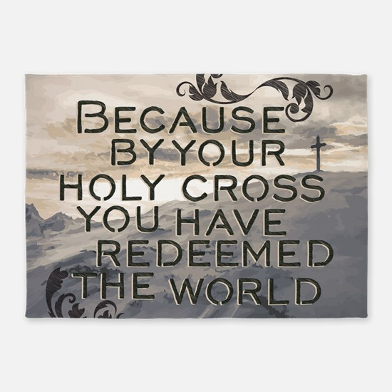 Your Holy Cross 5'x7'Area Rug