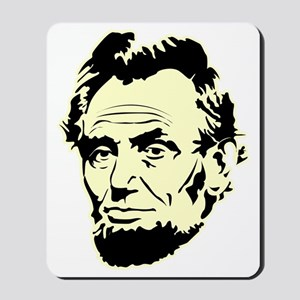 Abe-Portrait-(black-shirt) Mousepad