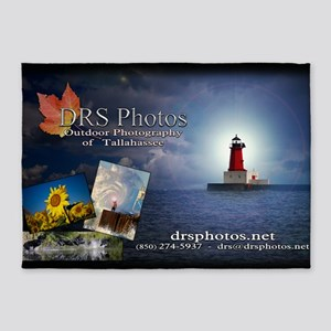 drs photos banner 3 5'x7'Area Rug