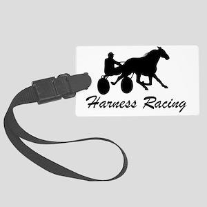 Harness Racing Logo Large Luggage Tag