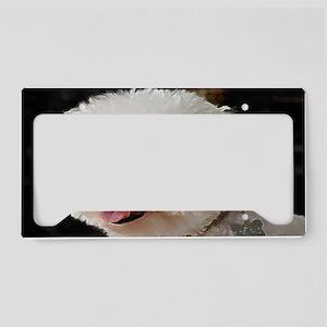 MARCO BICHON ART FRAMED PRINT License Plate Holder