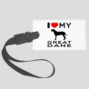 I Love My Great Dane Large Luggage Tag