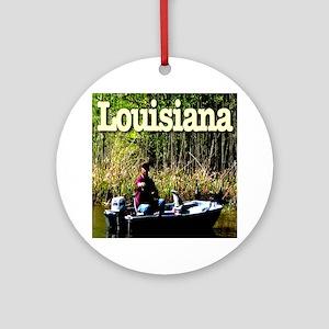 Louisiana_fishing_c2010TerryLynch Round Ornament