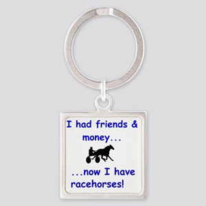 race horse Square Keychain