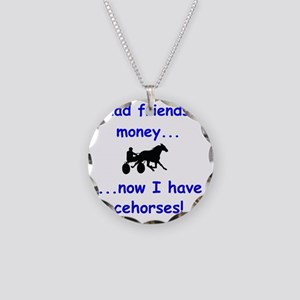 race horse Necklace Circle Charm