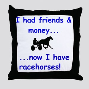 race horse Throw Pillow