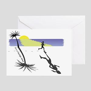 Sunrise Women's Running T-shirt Desi Greeting Card