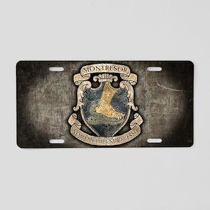 MONTRESOR-COAT-OF-ARMS_12x1 Aluminum License Plate