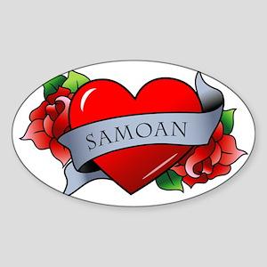 Samoan Sticker (Oval)