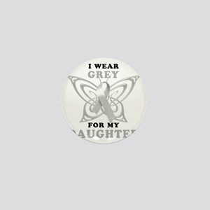 I Wear Grey for my Daughter Mini Button